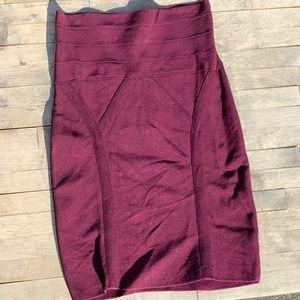 BEBE Bodycon Plum Skirt Size Small
